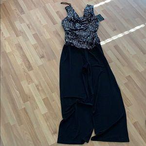 Black and sliver pantsuit